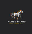 logotype horse vector image vector image