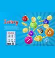 lottery banner bingo game background vector image vector image