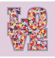 Love print floral design vector image