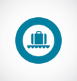 luggage on airport icon bold blue circle border vector image vector image