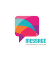 message - speech bubbles logo concept vector image