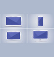 mobile phone tablet laptop monitor vector image vector image