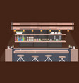 modern cafe empty no people restaurant counter vector image