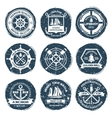 Nautical Labels And Stamps vector image vector image