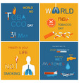 no tobacco day health is your life not smoking vector image vector image