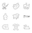 obstetrician icons set outline style vector image vector image
