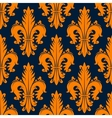 Orange decorative fleur-de-lis seamless pattern vector image vector image