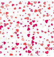 pattern with hearts valentines day background vector image vector image