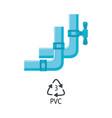 plastic plumbing tubes pvc type icon vector image