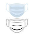 protective clinical mask against viruses vector image