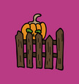 pumpkin realistic halloween harvest thanksgiving vector image