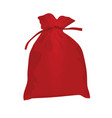 red christmas bag vector image vector image