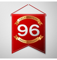 Red pennant with inscription Ninety six Years vector image vector image