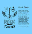 rock music forever postcard vector image vector image