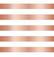 rose gold copper foil stripes seamless background vector image