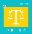 scales symbol icon vector image vector image