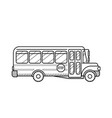 school bus public transport black and white vector image vector image