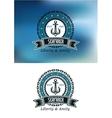 Seafarer badges or emblems vector image vector image