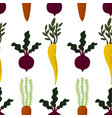 seamless pattern autumn vegetables vector image vector image