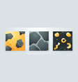 set creative minimalist hand drawn abstract vector image vector image