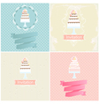 Set of invitation designs with cakes vector image vector image