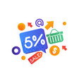 shopping sale signs internet shopping e-commerce vector image vector image