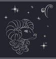 sign of the zodiac aries is the starry sky vector image vector image