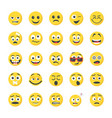 smileys flat icons collection vector image