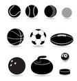 Sport balls black and white