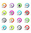 sport equipment icons set vector image vector image