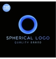 The spherical ring gradients logo vector image vector image