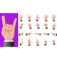 various gestures human hands isolated vector image