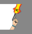 versus letters fight backgrounds comics vector image