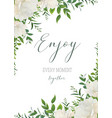 watercolor floral greeting wedding invite card vector image vector image