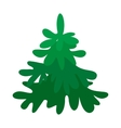 with fir-tree vector image