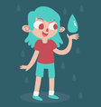 Elemental Girl Happy With Water vector image