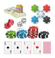 casino design elements poker chips vector image