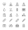 Healthcare thin icons vector image