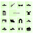 14 stylish icons vector image vector image