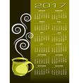 2017 coffee calendar vector image