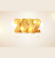 2022 new year sign golden glitter numbers vector image