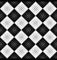 abstract seamless geometrical monochrome dot vector image vector image
