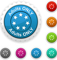 Adults only award vector image vector image