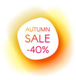 autumn sale smooth paper banner vector image vector image