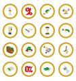 bank icon circle vector image vector image