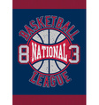 Basketball National League 83 vector image vector image