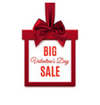 Big Valentines Day Sale Red square banner vector image