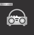 black and white style icon tape recorder vector image vector image