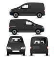 Black Commercial Vehicle Mockup vector image vector image