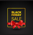 black friday golden frame black friday sale tag vector image vector image